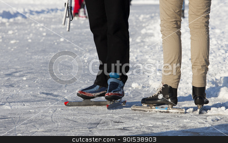 skating stock photo, outside skating in teh winter by Rob Bouwman