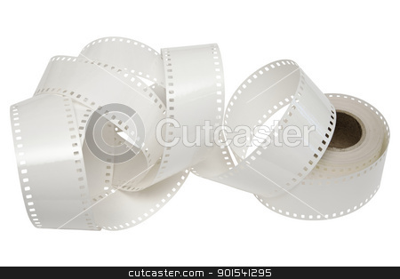 white film reel on a white background stock photo, white film is unwound from the reel by marekusz