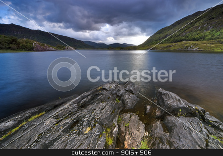 Mountain Lake stock photo, Mountain lake in Killarney National Park  by Tiramisu Studio