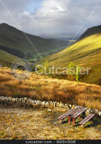 Mountain landscape stock photo, Mountain landscape in Donegal National Park, Ireland by Tiramisu Studio