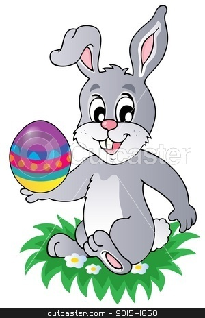 Easter bunny theme image 1 stock vector clipart, Easter bunny theme image 1 - vector illustration. by Klara Viskova