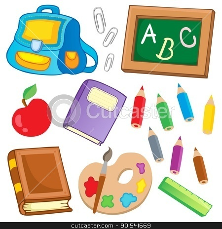 School drawings collection 2 stock vector clipart, School drawings collection 2 - vector illustration. by Klara Viskova
