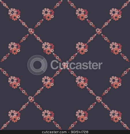 flowers wallpaper stock vector clipart, fine retro background with pink flowers by metrue