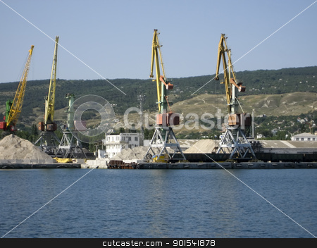 Port of Theodosia stock photo, Port of Theodosia. View from the Sea by virin
