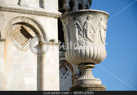 Vaso dei talenti (Pisa) stock photo, Pisa, Piazza dei miracoli, with the Basilica and the leaning tower by Maurizio Martini
