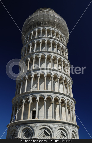 The leaning tower (Pisa) stock photo, Pisa, Piazza dei miracoli, with the Basilica and the leaning tower by Maurizio Martini