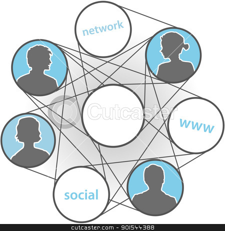 People www connections social media network stock vector clipart, People people join in www connections social media network by Michael Brown