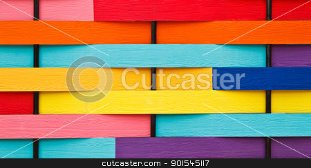 Colorful background stock photo, Colorful wooden wall and background by narathorn