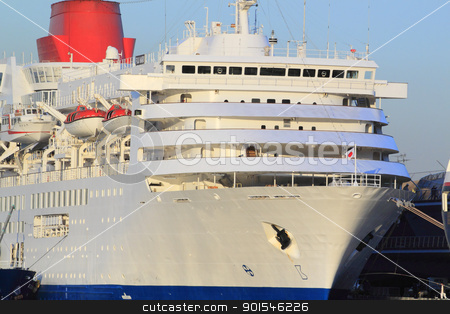 cruise ship at Yokohama Osanbashi Pier  stock photo, cruise ship at Yokohama Osanbashi Pier in Japan by yoshiyayo