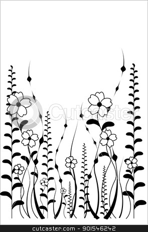vector flower pattern on white background stock vector clipart, vector flower pattern isoleted on a white background by Ekaterina Shvetsova