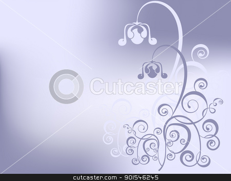 backgraund whith purple flower stock vector clipart, abstract floral background with place for your text by Ekaterina Shvetsova