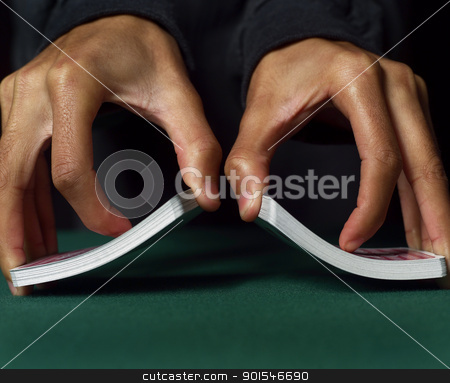 Playing Cards stock photo, Human Hands and Playing Cards by Anne-Louise Quarfoth