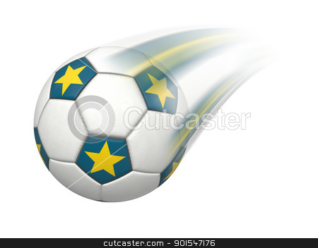 soccer ball stock photo, An image of a flying soccer ball by Markus Gann