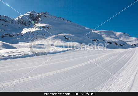 Bonneval Sur Arc stock photo, Pistes in ski resort Bonneval Sur Arc, Savoy Alps, France by Robert Soban