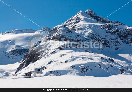 Bonneval Sur Arc stock photo, Ski resort Bonneval Sur Arc, Savoy Alps, France by Robert Soban