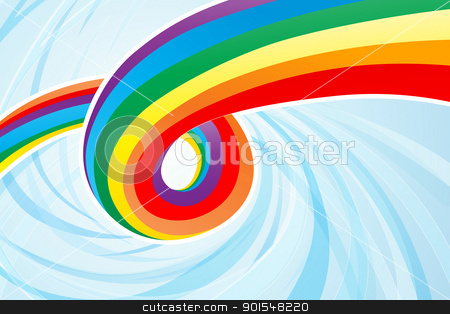 Abstract Rainbow Flow stock vector clipart, Abstract colorful rainvbow flow. Eps 10 transparencies used. by Liviu Peicu