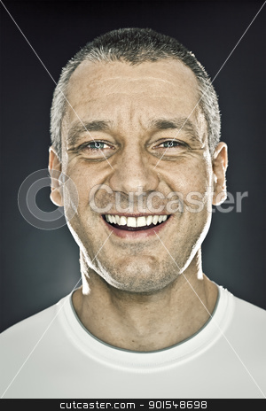 male portrait stock photo, An image of a handsome man high contrast by Markus Gann