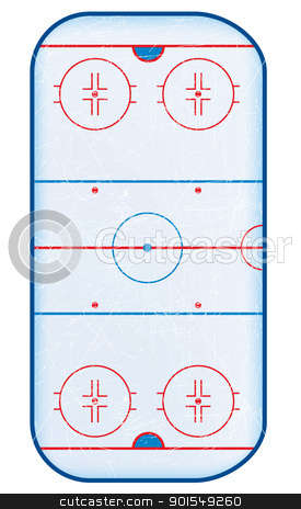 Top view of hockey rink. stock vector clipart, Top view of hockey rink.No transparencies used. Gradient mesh used. by Liviu Peicu