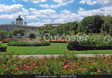 Gardens at Volksgarten, Vienna stock photo, View of gardens at Volksgarten, Vienna by padebat