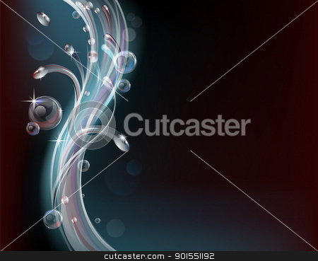 Abstract water and bubbles background stock vector clipart, Contemporary style water abstract background graphic design by Christos Georghiou