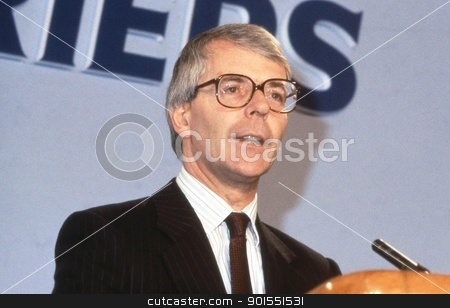 Rt.Hon. John Major stock photo, John Major, British Prime Minister and Conservative party Leader, speaks at a party conference in London, England on June 27, 1991. He was Prime Minister from 1990 - 1997. by newsfocus1