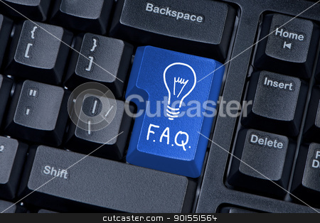 Button computer keyboard F A Q internet concept. stock photo, Button computer keyboard F A Q internet concept. by Borys Shevchuk