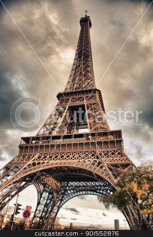 Bottom-Up view of Eiffel Tower, Paris stock photo, Bottom-Up view of Eiffel Tower in Paris by Giovanni Gagliardi