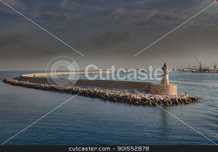 Pier in Corsica, France stock photo, Pier view, arriving in Corsica by Giovanni Gagliardi
