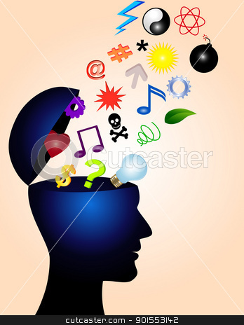 Human Mind stock vector clipart, Vector Illustration Of Human Mind by