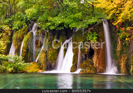 Waterfalls at Plitvice national park- Croatia stock photo, View of waterfalls at Plitvice national park- Croatia by padebat