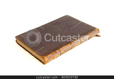 Antique book isolated on white background stock photo, Antique book isolated on white background by Shlomo Polonsky