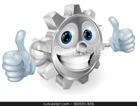 Gear giving thumbs up cartoon character  stock vector clipart, Illustration of gear cartoon character giving thumbs up cartoon character  by Christos Georghiou