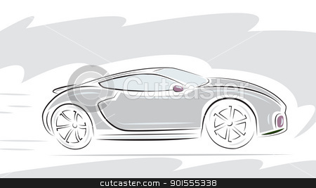 Racing Sport car  stock vector clipart, Racing Sport car. Vector illustration. by antkevyv