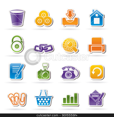 Website and internet icons  stock vector clipart, Website and internet icons - vector icon set by Stoyan Haytov