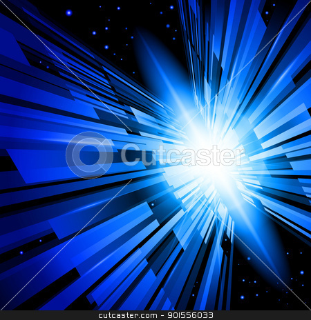Blue Radiance stock photo, Beautiful Abstract Backdrop Effect of Blue Radiance by dvarg