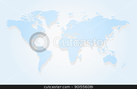 Map of the world stock photo, Blue business world map of the world by Imaster