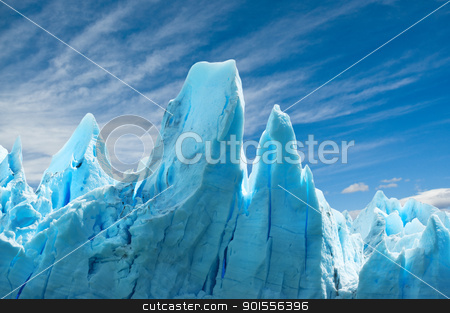 Perito Moreno glacier, Argentina.  stock photo, Perito Moreno glacier, patagonia, Argentina. Copy space.  by Pablo Caridad