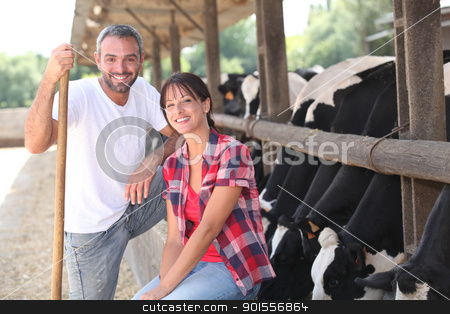 Cow farmers stock photo, Cow farmers by photography33