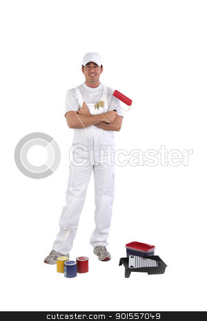 a house painter stock photo, a house painter by photography33