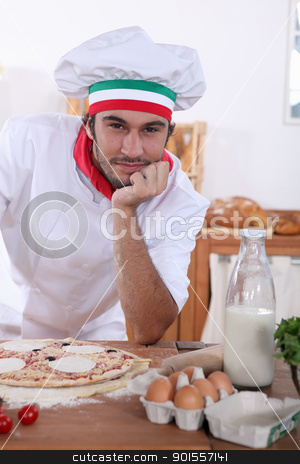Italian chef stock photo, Italian chef by photography33