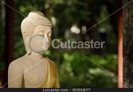 buddha statue in Thailand stock photo, buddha statue in Thailand. In Thailand's temple is free license by sweetcrisis
