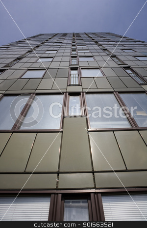 Skyscaper stock photo, Skyscraper fron Low Angle view by Anne-Louise Quarfoth