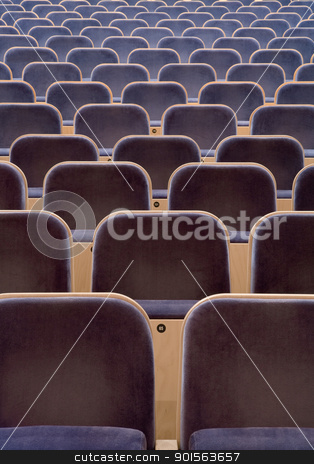 Spectators seats stock photo, Full Frame of Spectators seats by Anne-Louise Quarfoth
