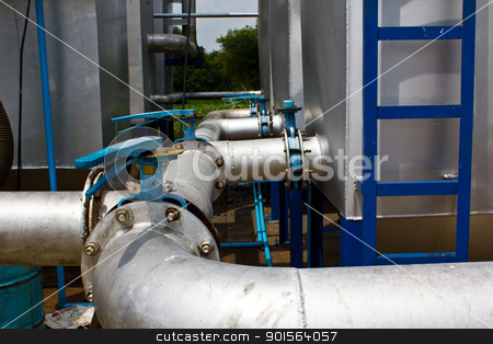 Industrial pipeline  stock photo,  by Lavoview