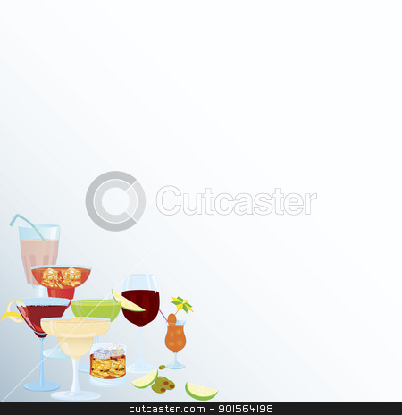 Corner-Csomo-cocktail-borders stock vector clipart, Vector illustration of cocktail corner decoration element    by Zebra-Finch
