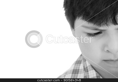 small and sad boy stock photo, small and sad boy by dacasdo