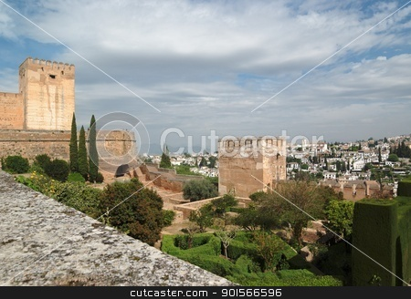 Alhambra castle in Granada, Spain stock photo, Alhambra castle in Granada, Spain by Shlomo Polonsky