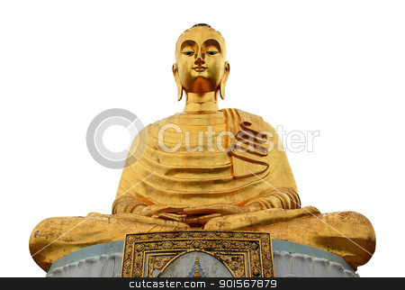 gloden buddha stock photo, golden buddha in thailand by Prakaymas vitchitchalao