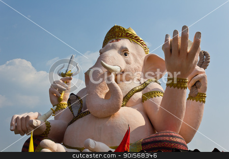 The God of wisdom and difficulty Ganesha statue stock photo, The God of wisdom and difficulty Ganesha statue at Nakhonnayok province, Thailand by Lavoview