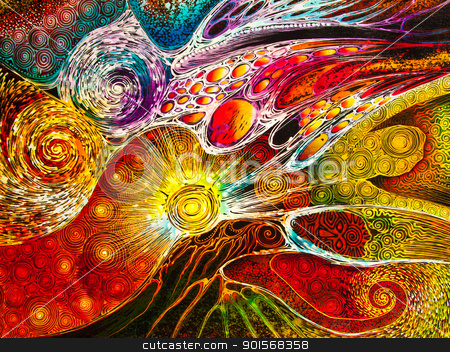 abstract, abstraction, art, artistic, colorful stock photo,  by Lavoview